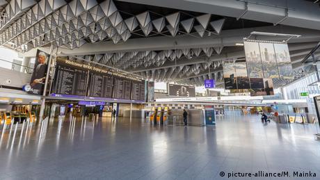 Deutschland Leeres Terminal 1 Flughafen Frankfurt (picture-alliance/M. Mainka)