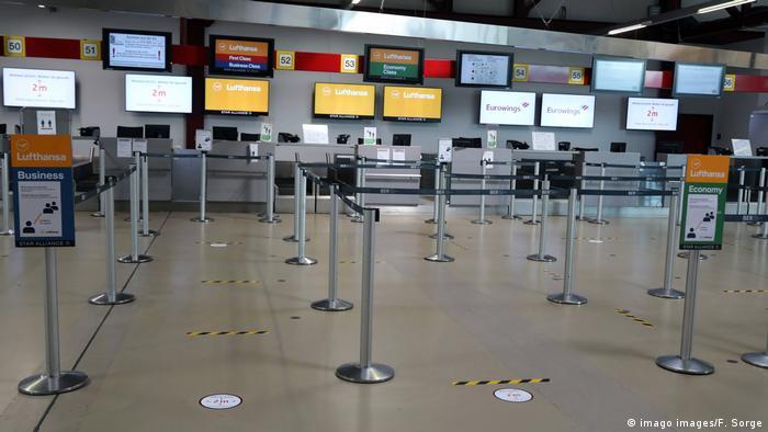 Deutschland Berlin Coronavirus - Flughafen Tegel - Menschenleer (imago images/F. Sorge)
