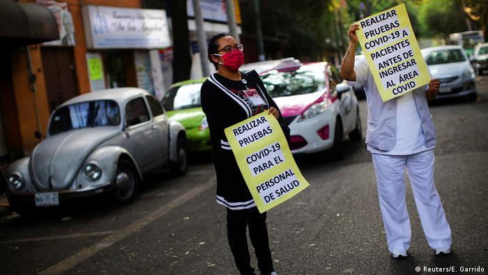 Mexiko Protest Arbeitsbedingungen Coronavirus