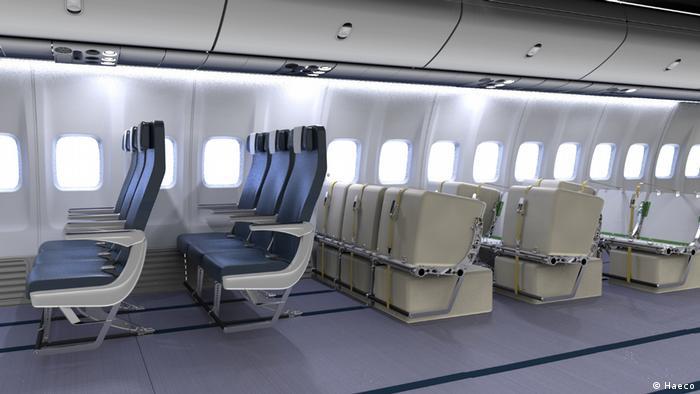 Vorschläge für eine alternative Flugpassagier-Beförderung wegen Corona (Haeco)