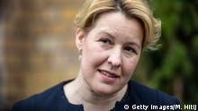 Deutschland Berlin  Franziska Giffey, Familienministerin  Kampage gegen häusliche Gewalt