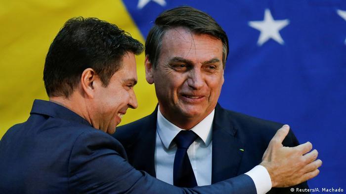 Brasilien Jair Bolsonaro und Alexandre Ramagem