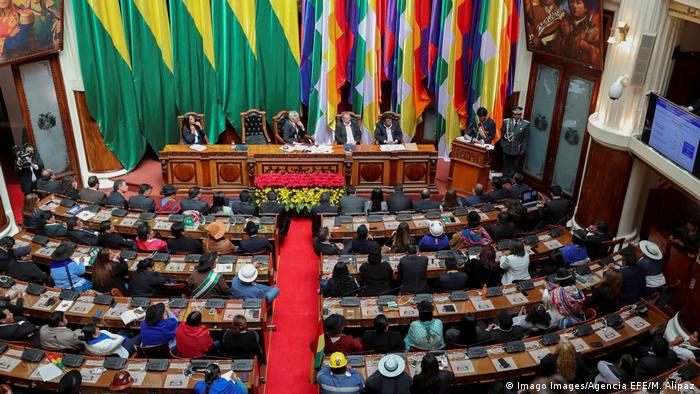 Bolivien Parlament (Imago Images/Agencia EFE/M. Alipaz)