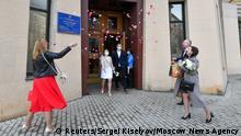 Coronavirus   Hochzeit   Liebe   Paar   Russland   Moskau