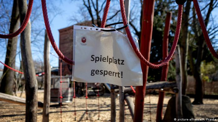 Zatvoreno dječje igralište u Cottbusu