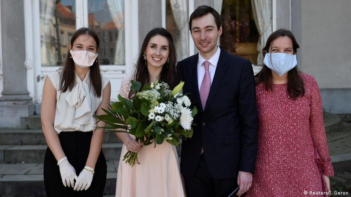Coronavirus   Hochzeit   Liebe   Paar   Belgien   Brüssel (Reuters/J. Geron)