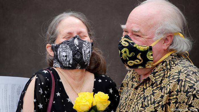 Coronavirus   Hochzeit   Liebe   Paar   USA (Reuters/M. Blake)
