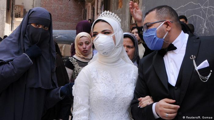 Coronavirus   Hochzeit   Liebe   Paar   Ägypten   Kairo (Reuters/R. Gomaa)