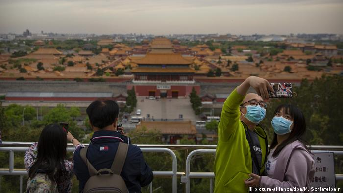 Baby Health in Winter Forbidden City in Beijing (picture-alliance/dpa/M. Schiefelbein)