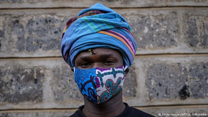 Fashion Gesichtsmaske Kenia Nairobi (Getty Images/AFP/G. Odhiambo)