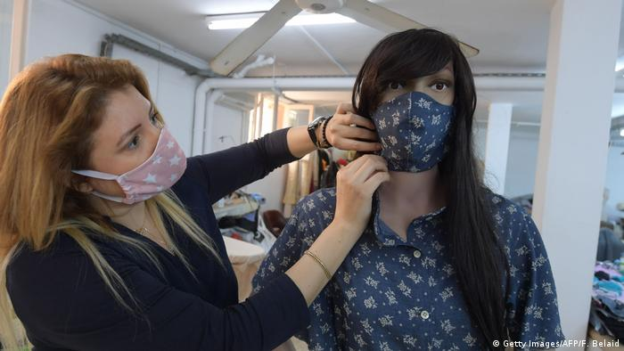 Fashion Gesichtsmaske Tunesien (Getty Images/AFP/F. Belaid)