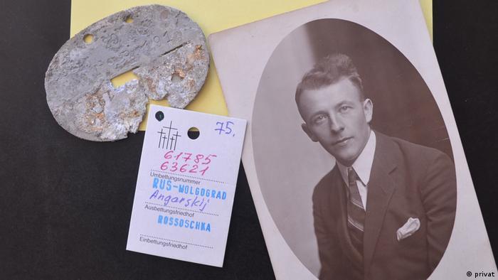 Karl Cramm's father's ID tag