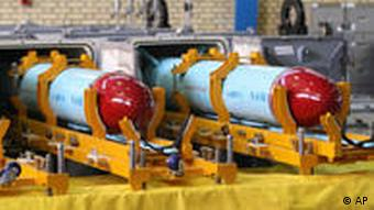 Nasr 1 (Victory) missiles in a factory in Tehran, Iran