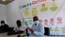 Tumane Baldé responsible for the Guinea-Bissau Emergency Operations Centre. Date: 30.04.2020 Place: Bissau, Guinea-Bissau Author: Braima Darame Key word: Tumane Baldé, Bissau, covid-19,