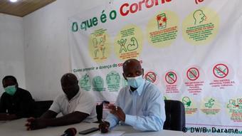 Guinea-Bissau Tumane Baldé, verantwortlich für das Notfall-Einsatzzentrum
