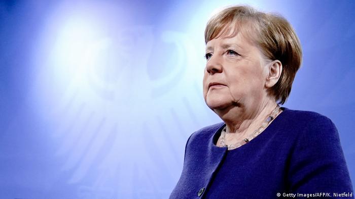 Deutschland Berlin Pressekonferenz Coronavirus | Angela Merkel (Getty Images/AFP/K. Nietfeld)