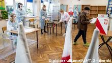 Polen Coronavirus - Bürgermeisterwahlen in Aleksandrow Kujawski