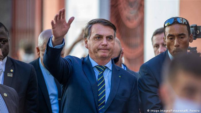 Brasilien Jair Bolsonaro in Porto Alegre (Imago Images/Fotoarena/R. Pereira)