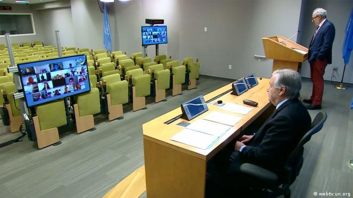 Antonio Guterres PK Covid-19 (webtv.un.org)
