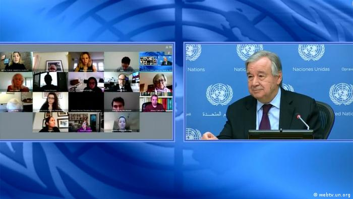 UN secretary-general is holding a virtual conference