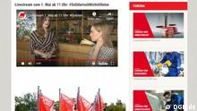 Screenshot Livestream DGB Online-Kundgebung zum 1. Mai