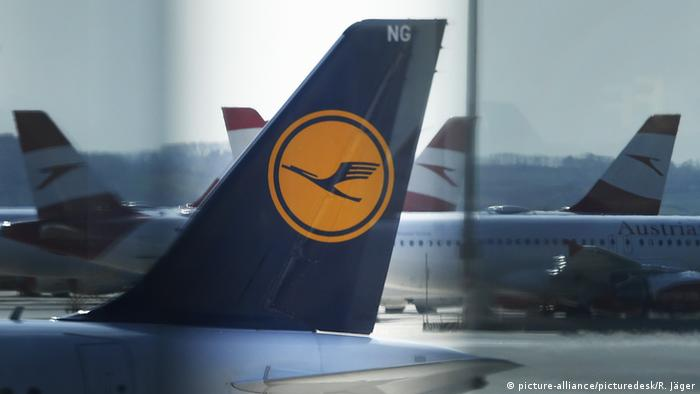 Lufthansa plane at the airport