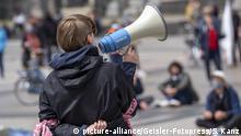 Deutschland 1. Mai Demonstration in Köln
