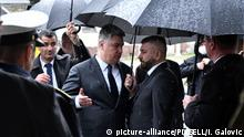 President Zoran Milanovic abruptly leaves the Operation Flash event (picture-alliance/PIXSELL/I. Galovic)