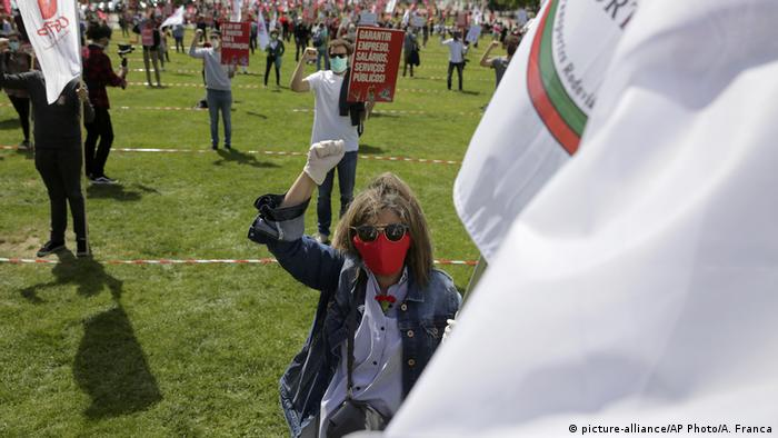 May Day protest in Lisbon