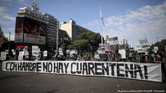 Protestas en la pandemia de coronavirus en Buenos Aires, en el Día del Trabajador. (1.05.2020).