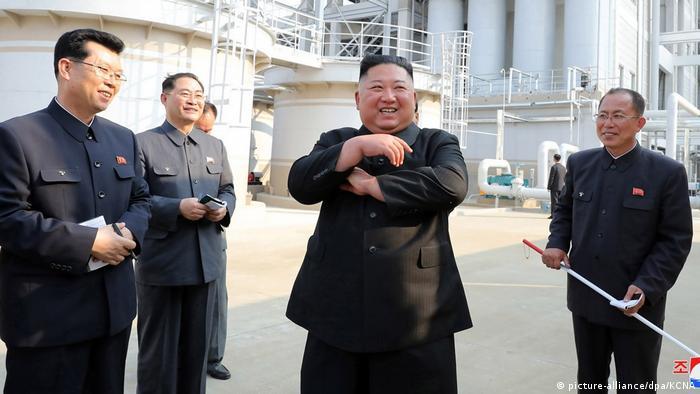 Nordkorea veröffentlicht neue Bilder von Kim Jong-Un (picture-alliance/dpa/KCNA)