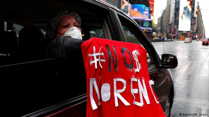 New York Coronakrise Protest für Mieterlass (Reuters/M. Segar)