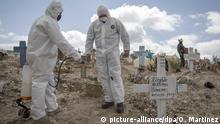 Mexiko Tijuana Desinfektion nach Beerdigung