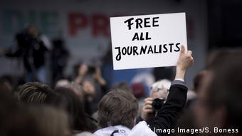 Foto simbólica de una protesta de periodistas