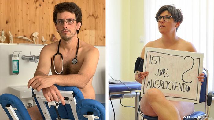 Ärztliche untersuchung nackt