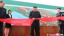 Nordkorea Kim Jong-un, Eröffnung einer Düngemittelfabrik