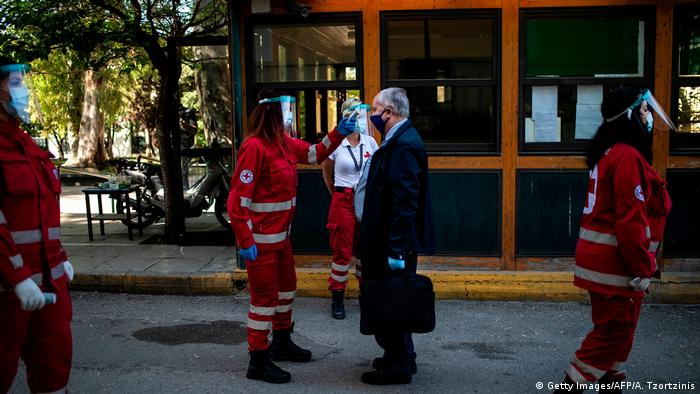 Griechenland Corona-Pandemie | Athen (Getty Images/AFP/A. Tzortzinis)