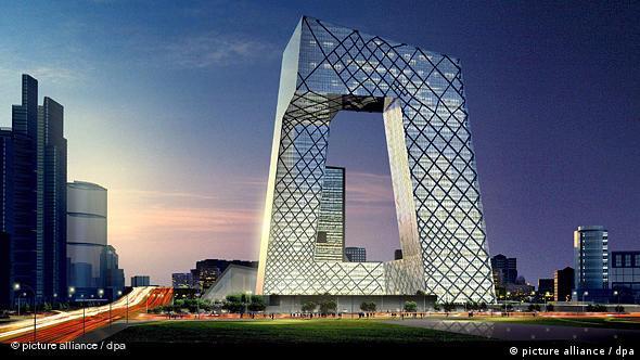 China Deutschland Architektur Deutscher Architekt baut das größte Fernsehgebäude der Welt (picture alliance / dpa)