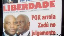 Albino Sampaio, director of the newspaper Liberdade de Angola, about the world press freedom day. Place: Luanda, Angola Date: 02.05.2020 Author: Manuel João, DW