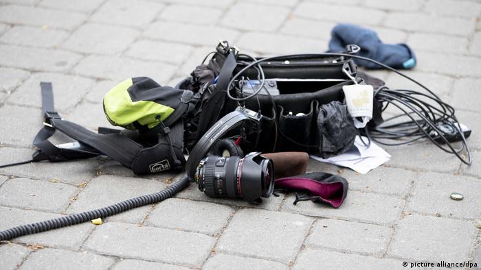 Camera equipment on the ground