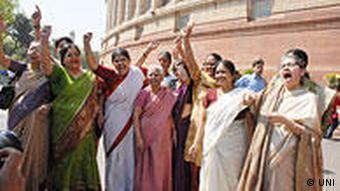 Indien Parlament Frauenrechte März 2010