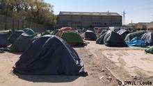 Flüchtlingslager in Calais DW, Lisa Louis, 27. April 2020