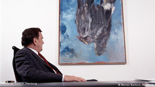 Gerhard Schröder in his office