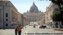 Italien Rom | Coronavirus | Vatikanstadt & Petersdom