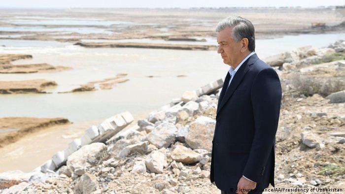 Usbekistan Staudammbruch in Sirdarya (picture-alliance/AA/Presidency of Uzbekistan)