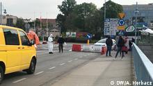 Grenzübergang Słubice nach Polen in Frankfurt an der Oder