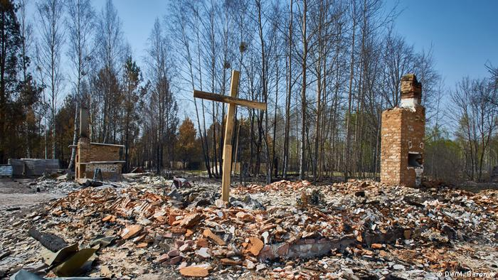 Церкву в Магдині знищив вогонь Натомість у сусідньому Магдині церква, яку зовсім недавно добудувала місцева громада, згоріла вщент. Про те, що на цьому місці ще три тижні тому стояв храм, нині нагадує лише хрест.