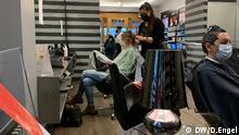 Friseursalon in Deutschland Berlin Corona-Krise
