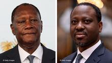 Bildkombo Alassane Ouattara und Guillaume Soro