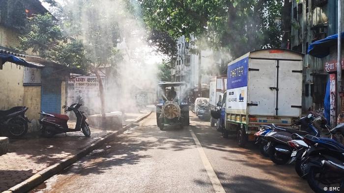 Mumbai Dharavi Gesundheitsteam der Stadt Mumbai im Anti-Corona-Einsatz in den Slums